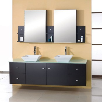 E1 Particleboard / Plywood / MDF Victorian Discontinued Teak Bathroom  Vanities