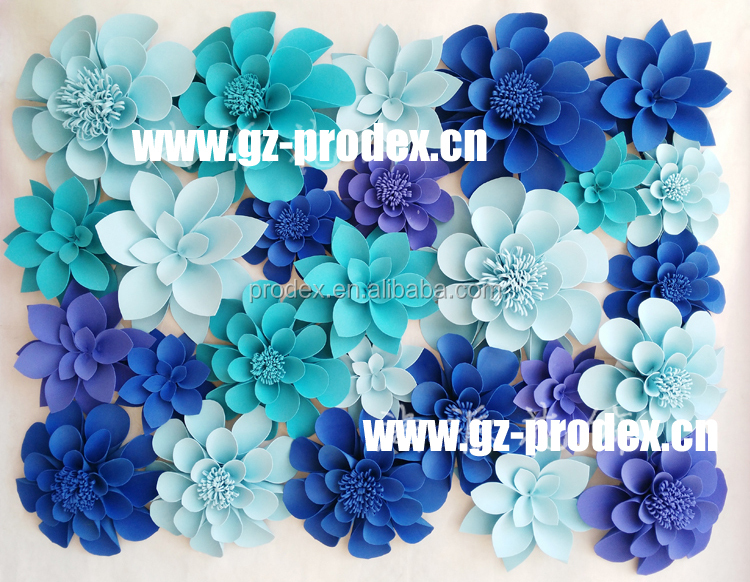 Giant paper flowers Paper flower wall for wedding