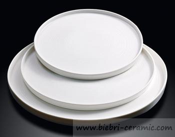 12\u0026quot; Modern Designed Popular Plain White Hotel And Restaurant Ceramic Porcelain Pizza Plates Wholesale & 12\