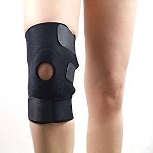 2pcs/lot Skintight Kneecap Protector Adjustable Sports Knee Pads Support Basketball Leg Pads Black Color