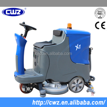 Powerful hand push floor scrubber washing machine
