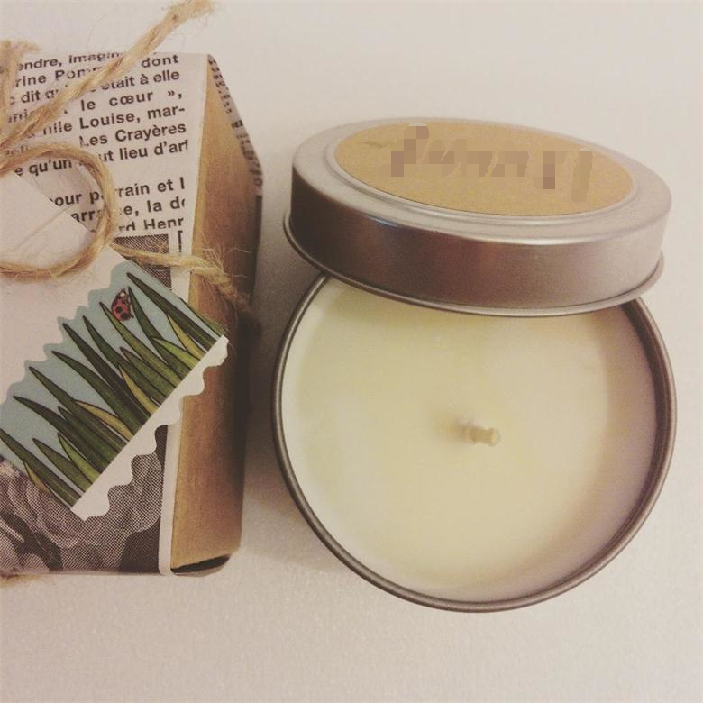 Traveling Use Luminaries Scent Diffusers Garden Soy Wax Tin Candles