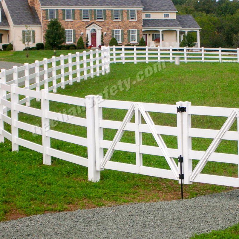 pvc post and rail fencing 3rails horse fence plastic pvc valla de jardin - Valla De Jardin