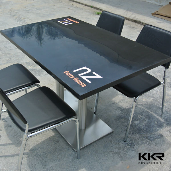 Marmeren top lange smalle keuken tafels met custom logo eettafels ...