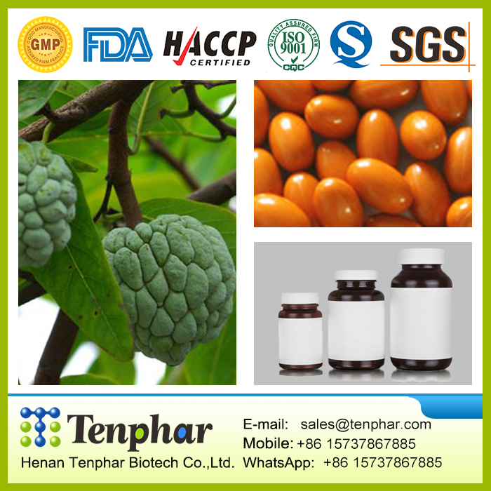 OEM 500mg Graviola Leaf Extract Powder Capsules Softgels