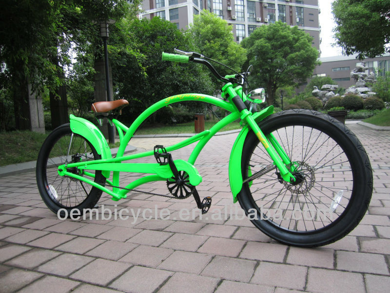 24 Inch With Green Color Hybrid Adult Chopper Beach Cruiser Bicycles - Buy  Chopper Beach Cruiser Bicycles,Retro Wholesale China Chopper