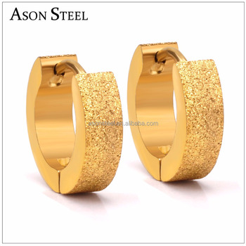 European Fashion Hoop Daily Wear Earring Fancy Design Gold For Women