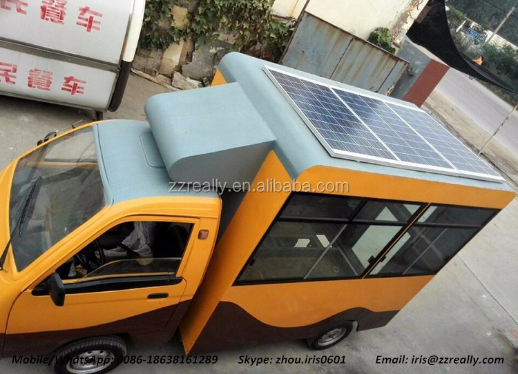 New Designing Solar Power Fast Food Refrigerated Van Truck