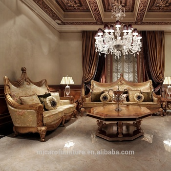 Exclusive design classic style golden color living room royal solid wood  sofa set, View royal solid wood sofa set, MICARO Product Details from  Foshan ...