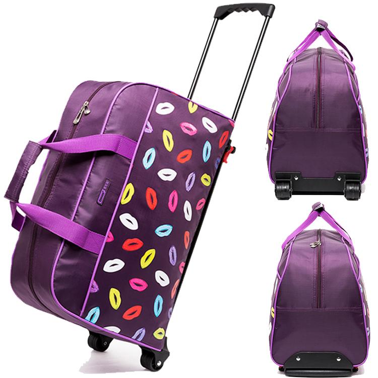 Wholesale AVON factory designer Women Nylon travel trolley luggage ...