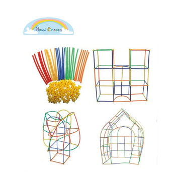 c5bed4444 Hot Sale Straw Structures Interlocking Building Connecting Engineering Construction  Kit Toys for kids Educational