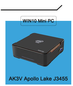 WIN10 ミニ PC AK3V インテル Celeron アポロ湖 J3455 プロセッサ 4 ギガバイト/ギガバイト 32 Windows 10 テレビボックス