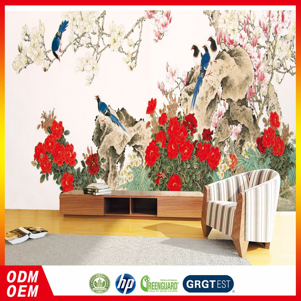 Wallpaper With Birds chinese bird and flower painting murals wallpaper custom wallpaper