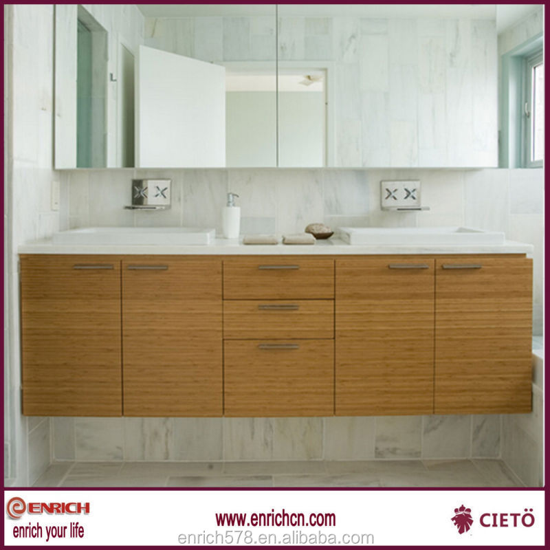 Modern bathroom design with large vanity mirror