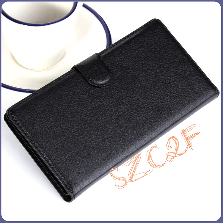 Top Selling Products Mobile Phone Card Holder Wallet Leather Flip Back Cover For Sony Xperia C3