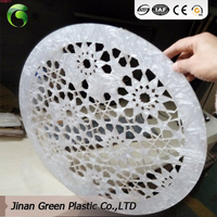 Green Plastic Providing For Raw Material Acrylic Engraving Sheet