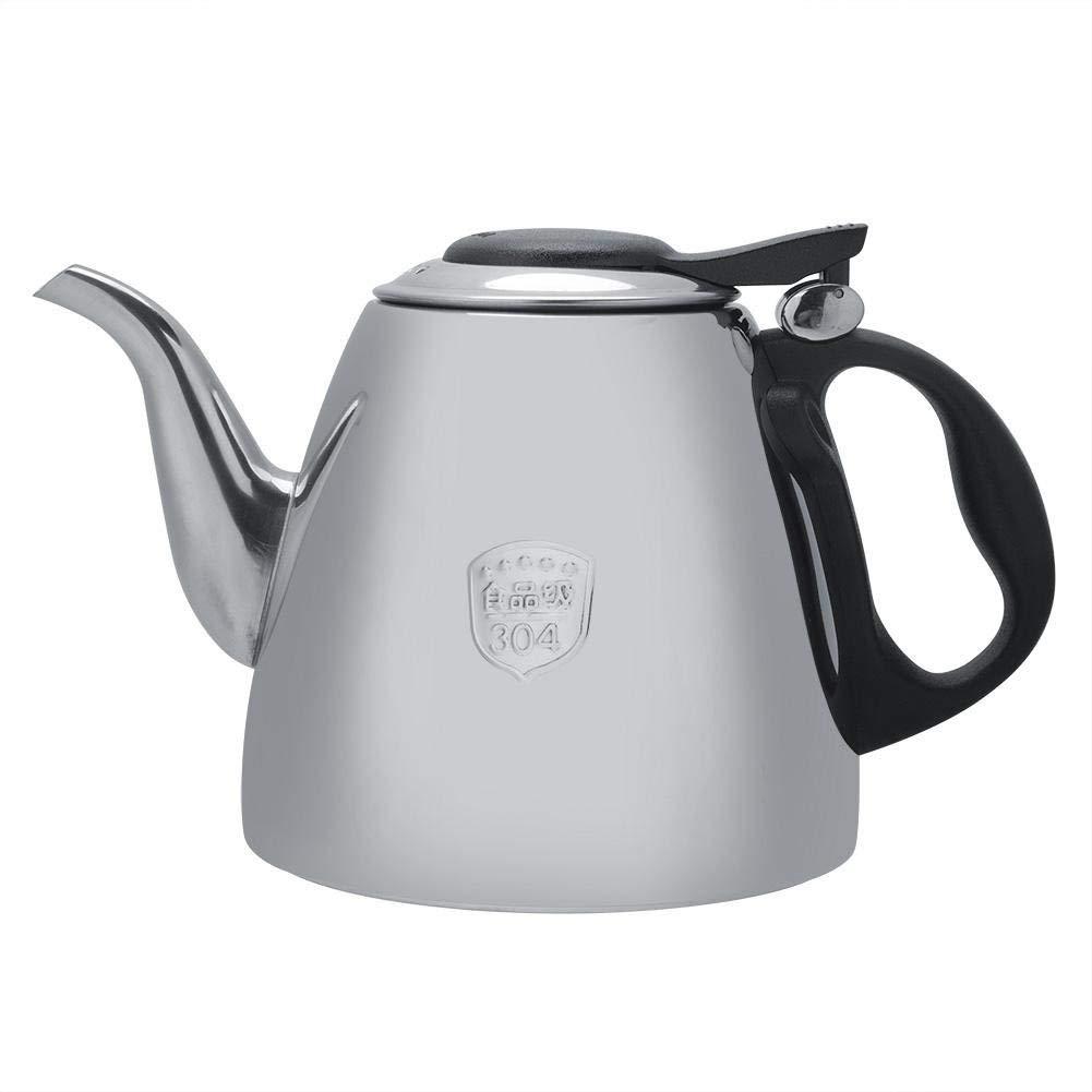 fosa 1.2L / 1.5L Stainless Steel Stove Teapot Stainless Steel Tea Kettle Electronic Tea Coffee Pot Kettle Heat Resistant Handle(1.2 L)