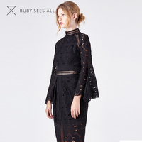 Exceptional Quality sexy lace blouse and skirt