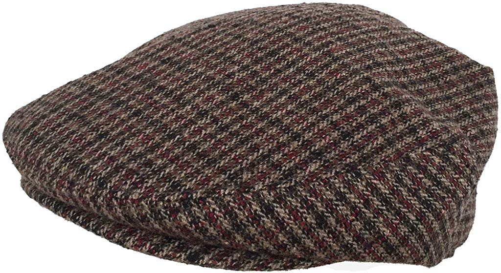 ea53bf5b31368 Get Quotations · Plaid Wool Blend Ivy Scally Cap Houndstooth Driver Hat  Newsboy Flat