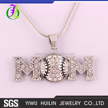 A500441 yiwu huilin jewelry sports lover baseball double m clear a500441 yiwu huilin jewelry sports lover baseball double m clear crystal pendant simple necklace sport jewelry aloadofball Image collections