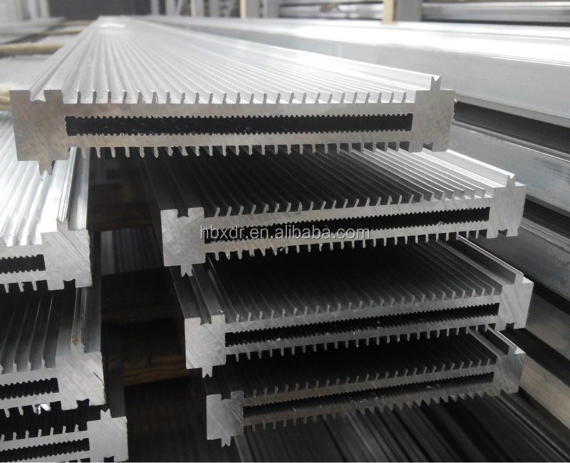 Aluminum extrusions-framing element for making food machinery custom design shapes