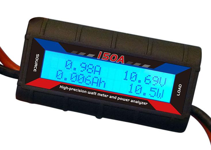 Inline Volt Meter : Amp watt meter with special heavy ga wire wind