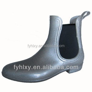 short women boots crystal shoes in china funky cheap rain boots Ankle Height Rain Boot