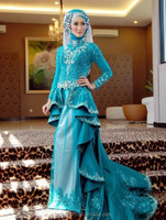 new hot-sale gorgeous high-quality MUSLIM wedding dress,muslim wedding gown muslim bridal dress mud006