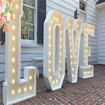 Waterproof Led Giant Love Letter Metal Stage Decoration For Hire
