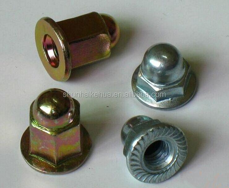 Black zinc acorn nut