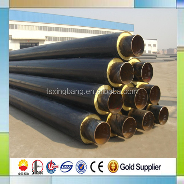 pre insulated hot water steel pipe for underground directly buried heating pipeline & underground heating insulated steel pipe-Source quality underground ...