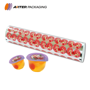 Printed jelly cup sealing film