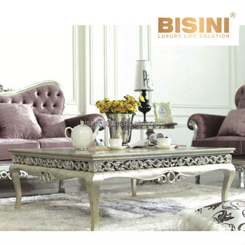 European Neoclassic Style Victoria Living Room Furniture Luxury Coffee Table