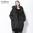 Black Hooded Big Plus Size Women Clothes Winter Coat for Girl