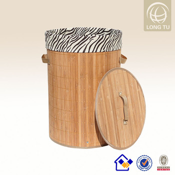 Handicraft Making Low Cost Manufacturing Ideas Bamboo Laundry Box