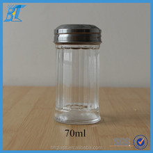 70ml salt and pepper shakers spice glass jar