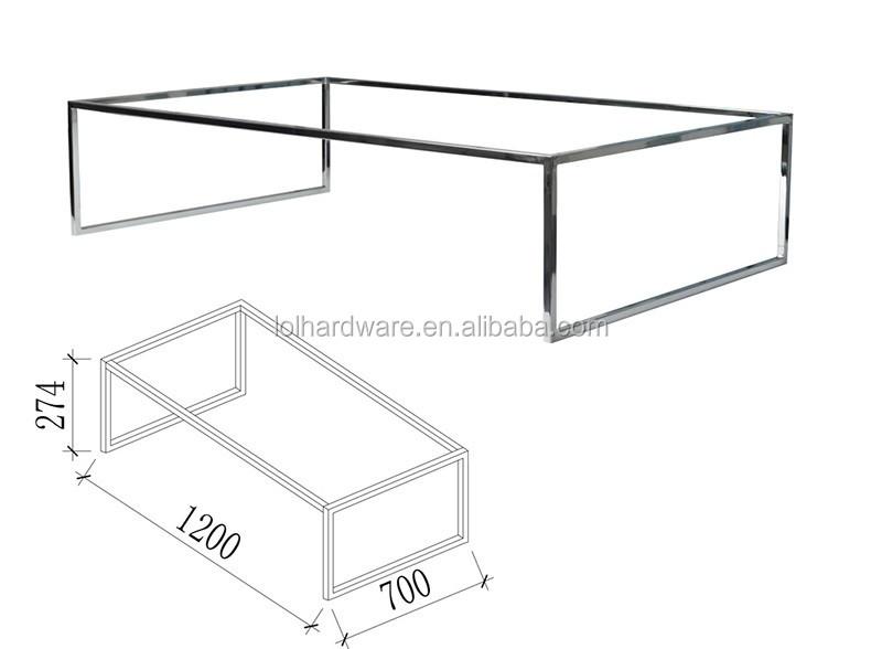 Stainless Steel Square Tube Table Leg Metal Table Frame For Bedroom ...
