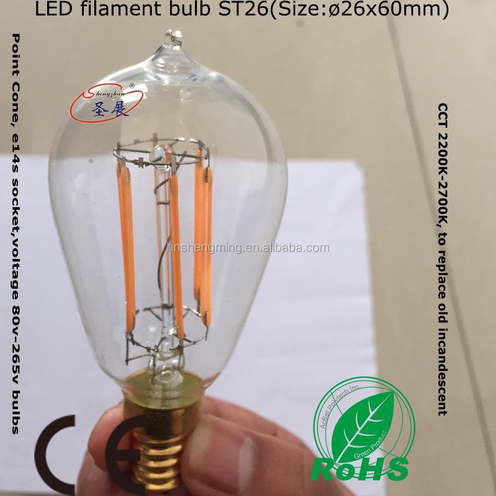 長い生命サービスe14led電球ledフィラメント電球0 5w 1w 20w buy led