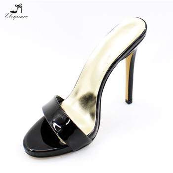 New 2017 Summer Platform Extreme High Heels Stiletto Gold Silver Slippers  Fashion Shoes for Woman Slides c40e33a527e8