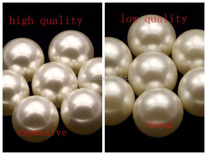 Coolwin Aaa Grade 3mm Loose Pearls Abs Faux Synthetic Fake