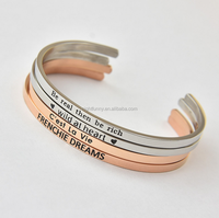 Hand Stamped Cuff Bracelet,Engraved Jewelry