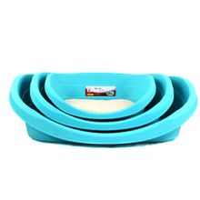 Pet Blue Comfortable Breathable Plastic Dog Bed With Non Sticky Cotton Pad