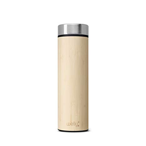 Welly Vacuum Insulated Infusing Stainless Steel Bamboo Water Bottle