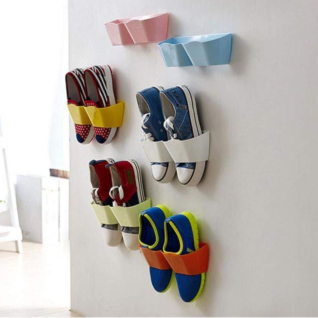 Amiley Creative Plastic Shoe Shelf Stand Cabinet Display Shelf Organizer hanging Rack (Green)