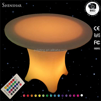 Led Tisch Large Round Plastic Banquet Event Tables Drink Table Dining For Wedding