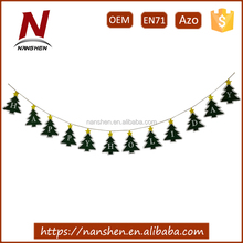 2017 polyester christmas tree felt hanging holiday garland