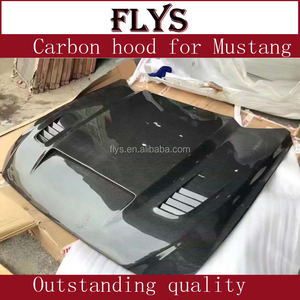 Mustang bonnet carbon hood for ford mustang. outstanding quality wide body kit