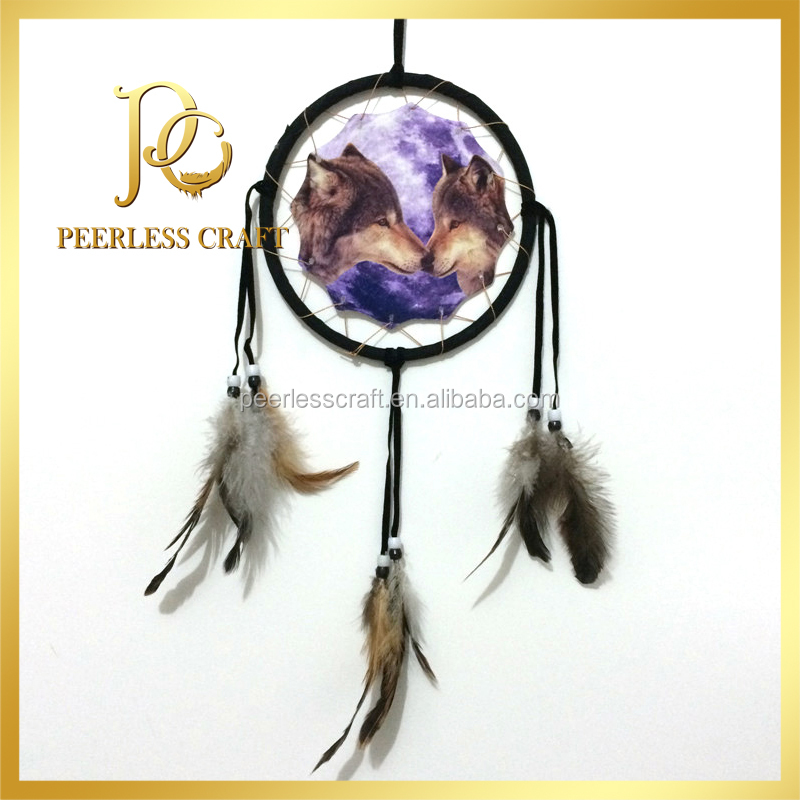 Wholesale Wolf Wall Hanging Dream Catcher