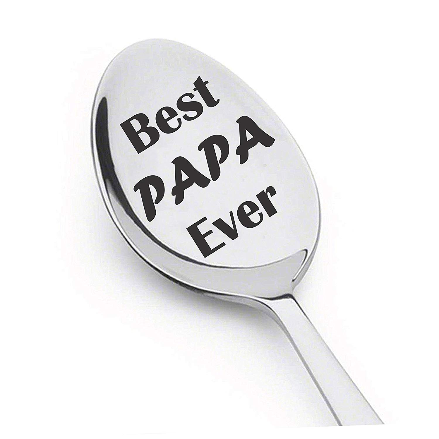 Best Papa Ever Spoon - Christmas/Birthday/Father's Day Gift For Men, Husband, Grandpa & Dad! 8 Inch perfectly designed Stainless Steel Spoon. Gifts under 10