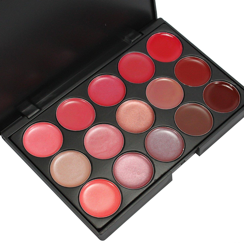 Hot Sale Professional 15 Color Lip Gloss Lipstick Fashion Cosmetic Palette Makeup Cosmetic Set L15
